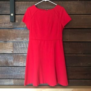 J Crew Factory NWT red skater dress